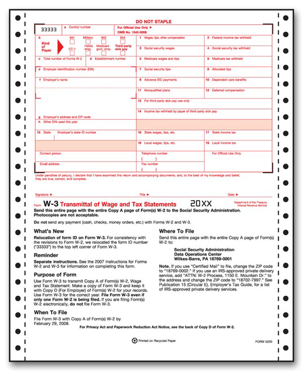 W 3 Tax Forms Filerx